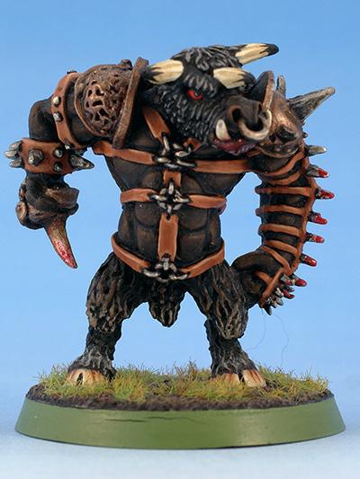 Citadel Miniatures Chaos Dwarves Blood Bowl Minotaur